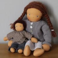 Klein-Maja und Puppenkind Tamta (40 cm)