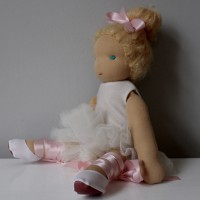 Ballet Waldorf doll with ballet outfit and ballet shoes