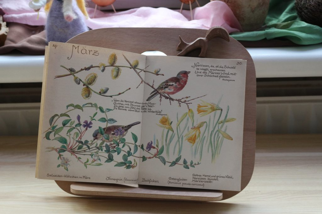 März-Bild aus dem Tagebuch der Edith Holden