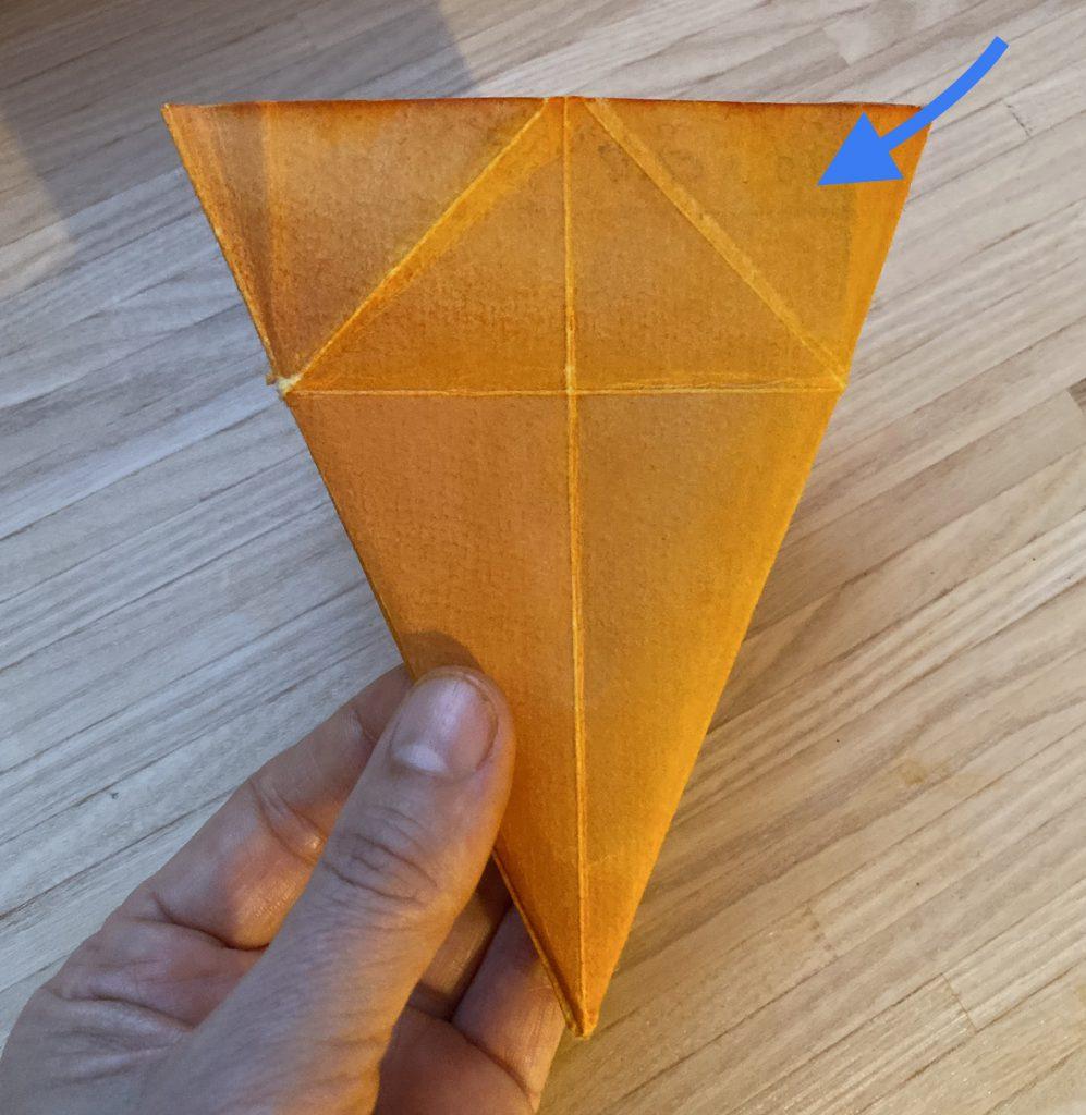 Waldorf Sternenlicht Anleitung: zusammengefaltetes Dreieck