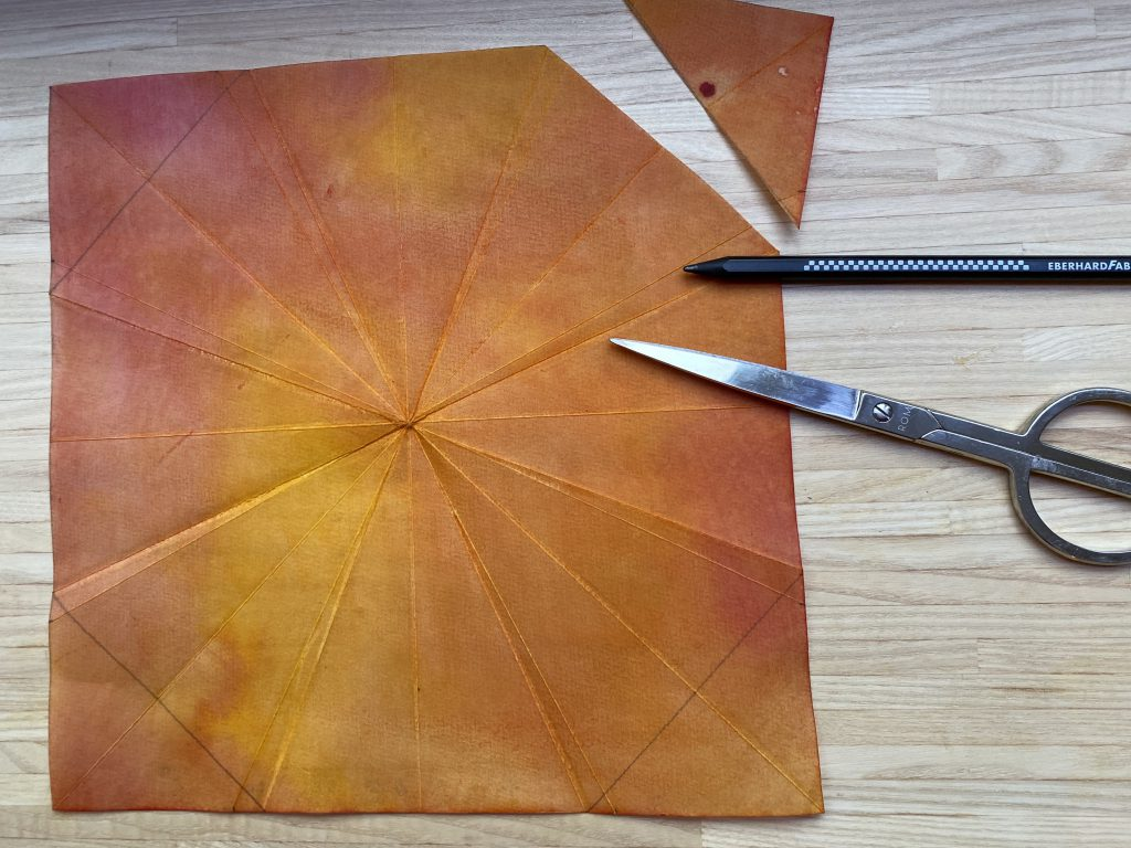 Waldorf Sternenlicht: Papierquadrat mit abgeschnittenen Ecken