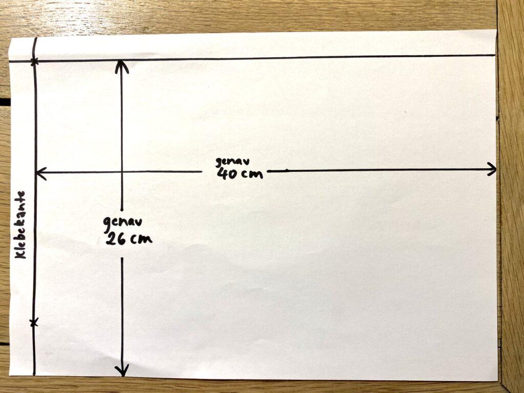 Waldorf-Laterne basteln, Schritt 2: Faltschema für Laterne Typ A und B