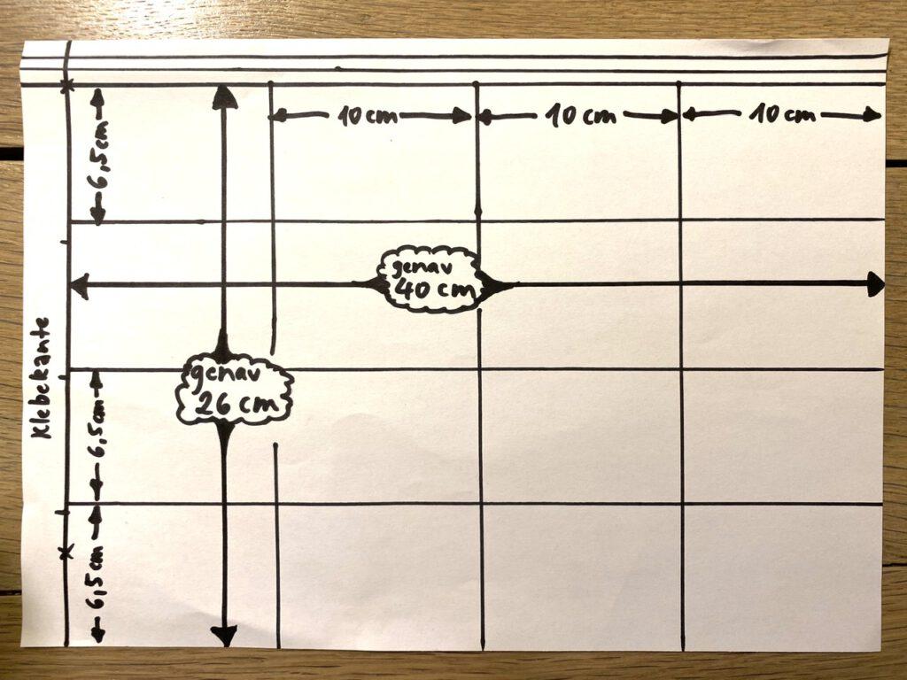Waldorf-Laterne basteln Schritt 2, Falzschema Typus A