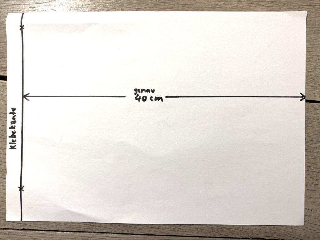 Waldorf-Laterne, Schritt 2: Faltschema für Laterne Typ A und B