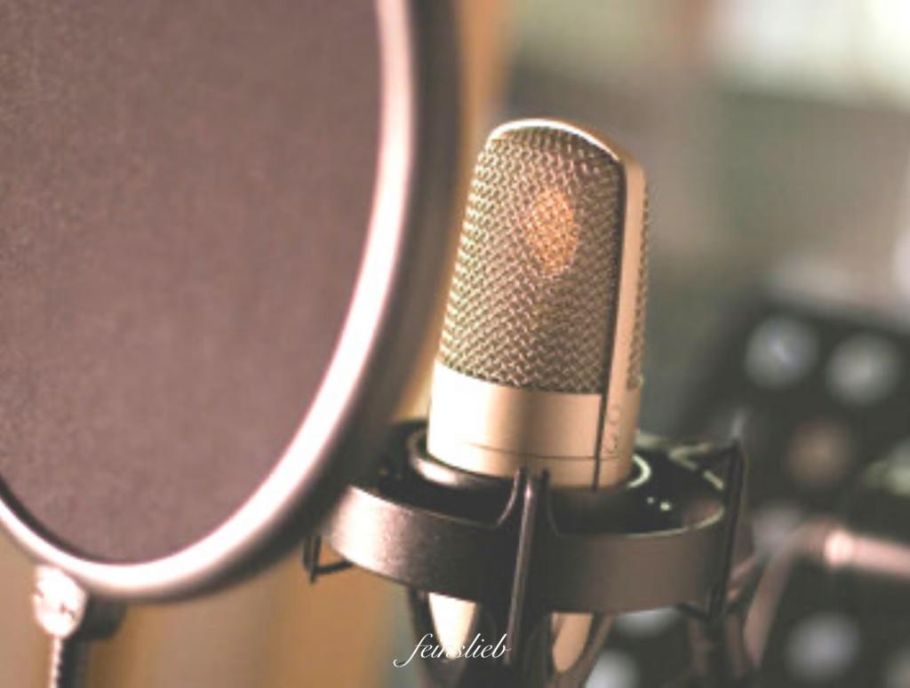Sprecher-Mikro nah in Aufnahme-Studio
