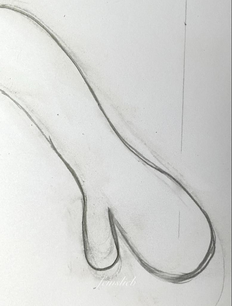 Aufgezeichnete Hand, mehrfach korrigiert